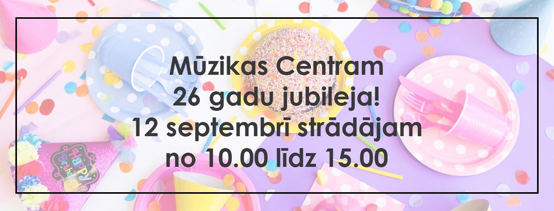 Mūzikas Centrs darba laiki 12.septembrī, 2020