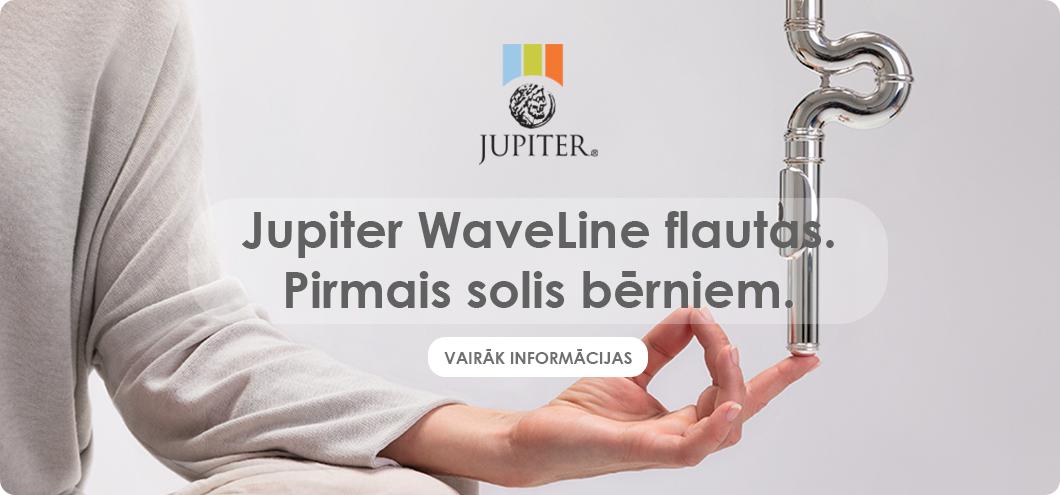 Flauta berniem Jupiter waveline ar sievieti jogas poza