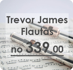 Trevor James flautas ar nosu lapu
